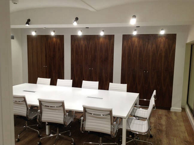 Bespoke Fitted Wardrobes in a Central London Office