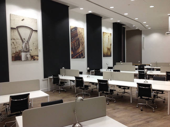 Large Cream and Brown office with Modern Artwork in Central London