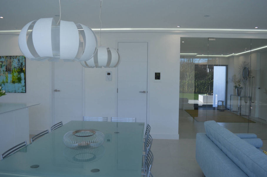 Kitchen in a rear house extension in Barnet, London