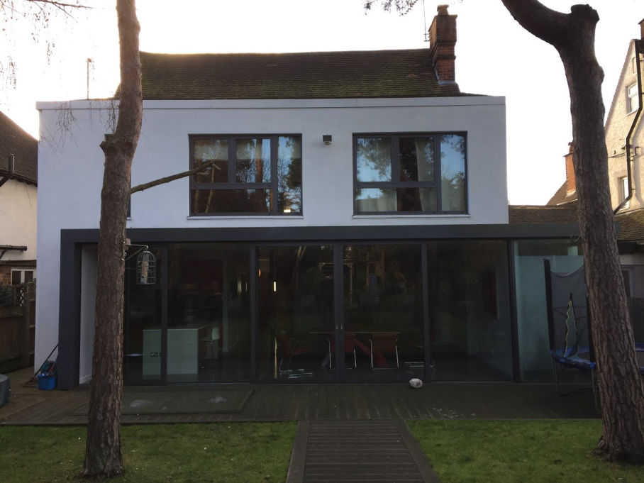 London house before construction of a dormer loft conversion
