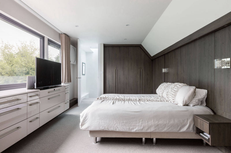 Bedroom of a Dormer Loft Conversion in North London