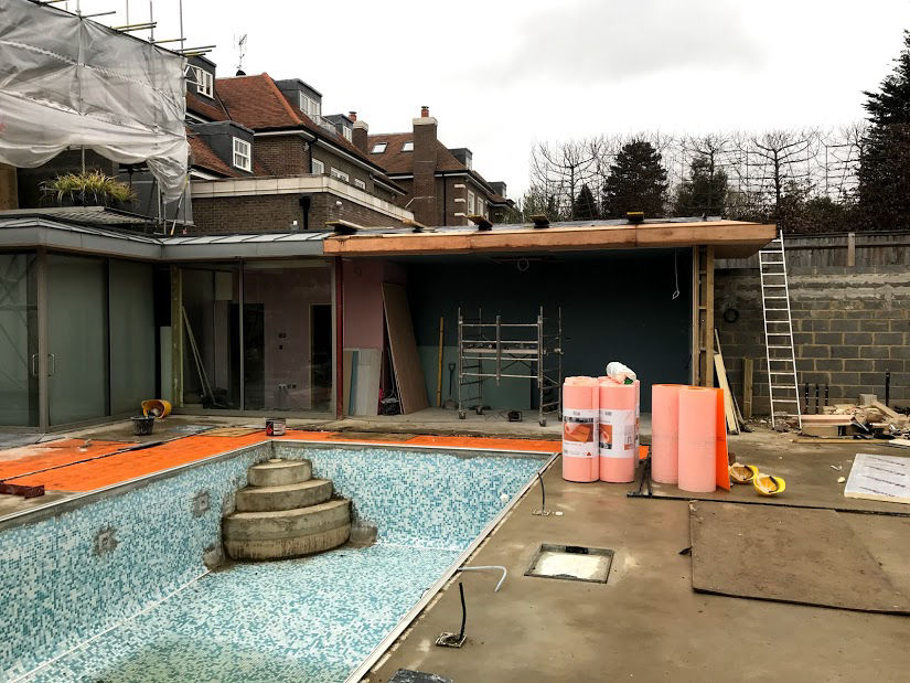 Construction of an L Shaped House Extension in Mill Hill, London
