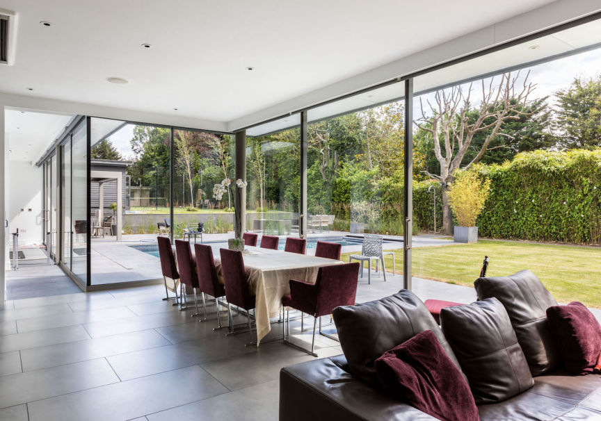 Large Lounge, Dining Room and Kitchen Extension in Mill Hill North West London with Sliding Glass Doors