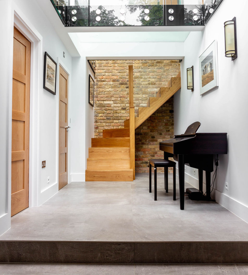 Lightwell in a basement extension in Hampstead, London