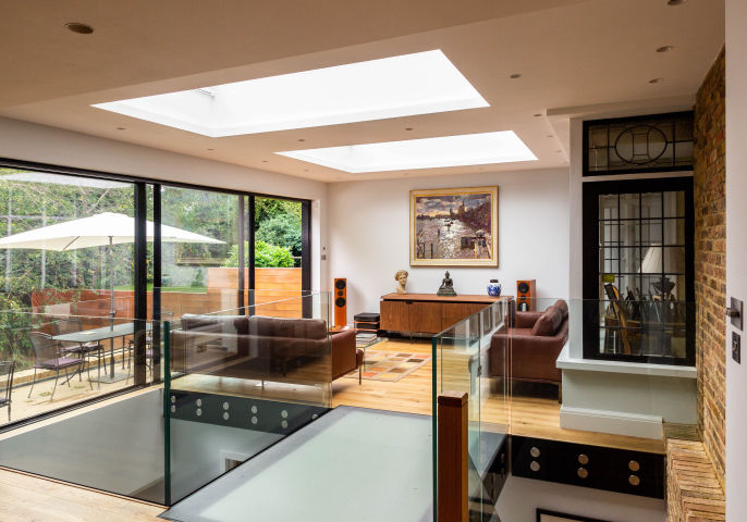 Two Storey House Extension with a half Basement in Hampstead, North West London